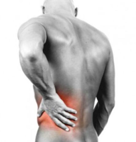 Lumbar la zona dolor derecha en